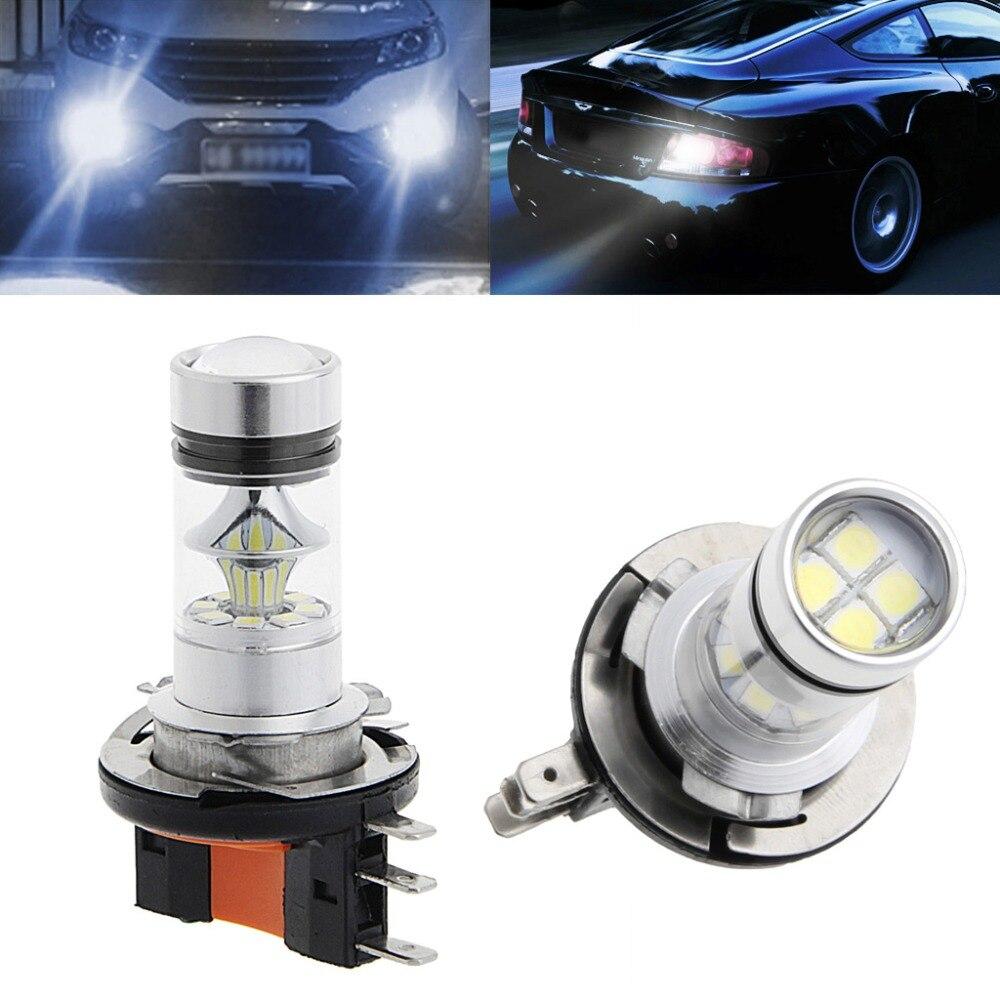 H15 100W 2323 SMD LED Car Fog Light Driving Bulb Brake Stop Lamp Headlight Fog Lamps