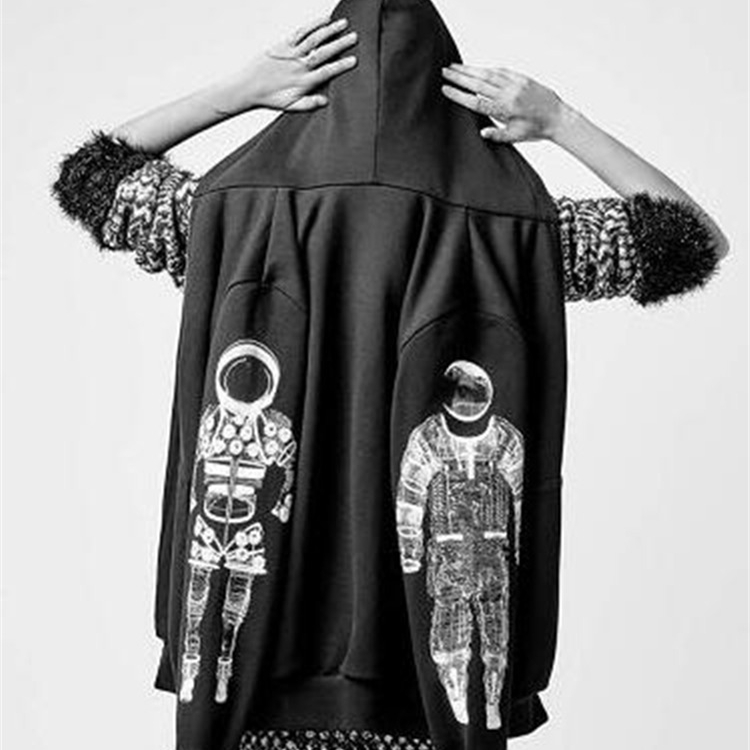 Kpop home GD GDragon Same harajuku style Astronaut Zip up jacket unisex fashion cool sweatshirt high quality man women's Hoodie