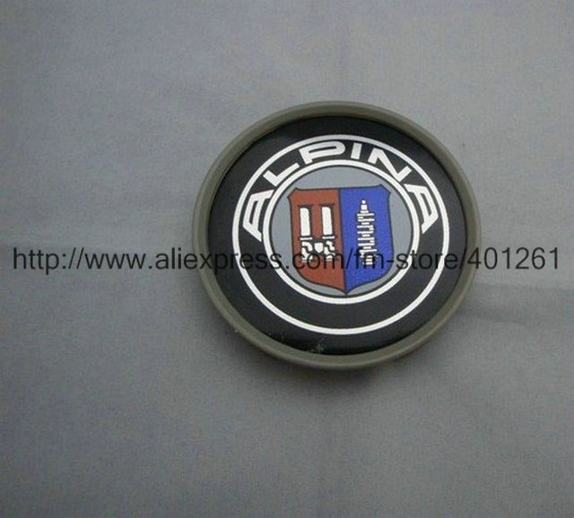 100pcs Alpina Wheel Central Cover Car Badge Emblem Diameter 68Mm Factory Supply free shipping