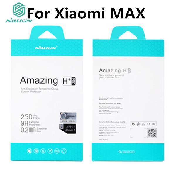 For Xiaomi Mi MAX Original NILLKIN Amazing H+Pro Tempered Glass Anti-Explosion Screen Protector Film For Xiaomi MAX