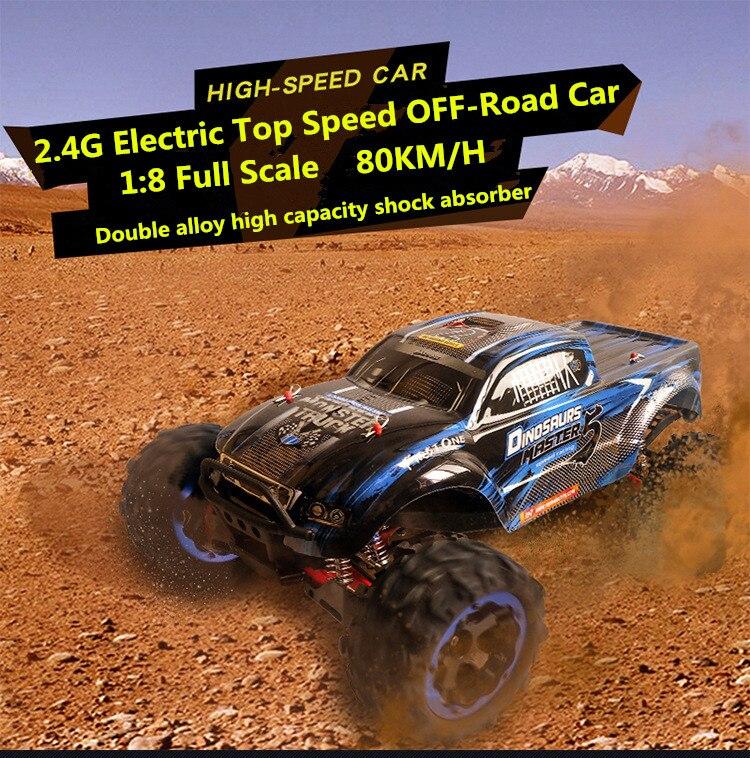 Ultime Édition 1/8 échelle 56 cm modèle voitures rc voiture 80 KM/H 4WD brushless top vitesse imperméable hors route télécommande jouet voiture