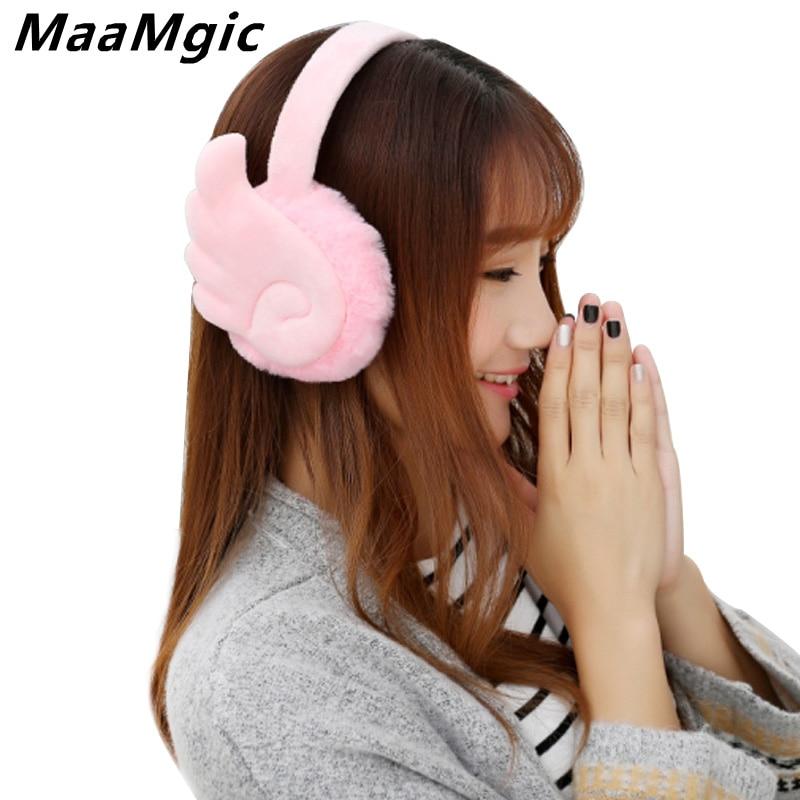 Fashion New Plush Female Winter Earmuff Warm Ear Muffs Headphones Girls Earmuffs  Earphone Ear Warmers Protector Fur Headphones