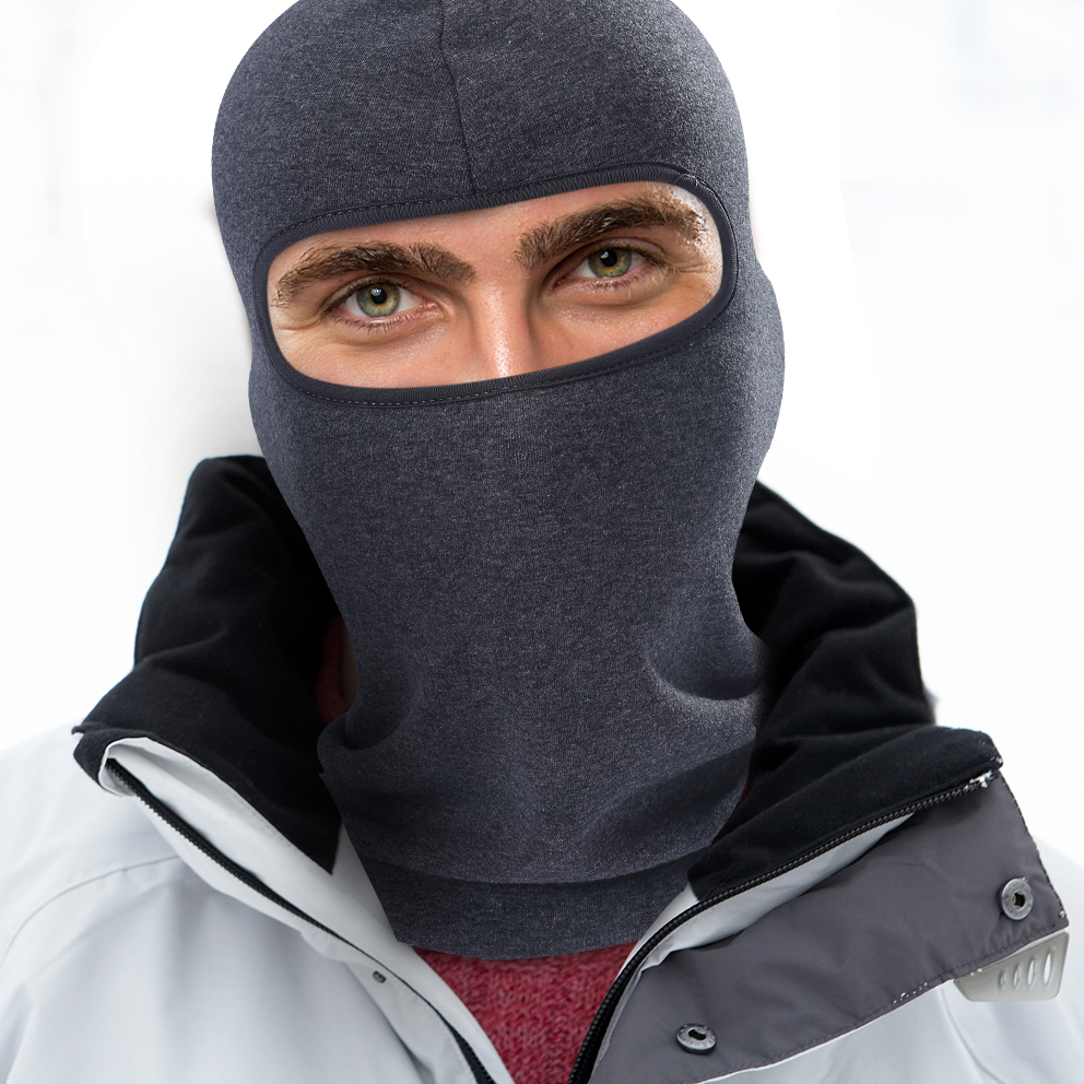 Lightweight Fleece Thermal Balaclava Full Face Mask Cold Weather Tactical  Military Ninja Head Shield Bicycle Face Guard Unisex-in Skullies   Beanies  from ... 877856243e6