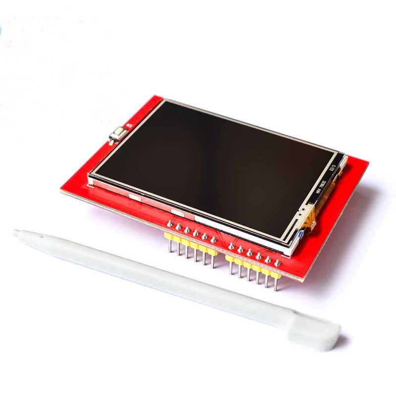 2.4 인치 lcd 디스플레이 240x320 spi tft ili9341 백색 led arduino oled lcd 직렬 포트 모듈 5 v/3.3 v pcb 어댑터 마이크로 sd 카드