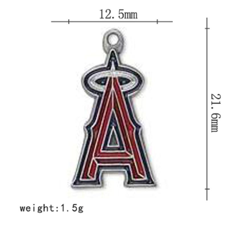 Новые эмали Лос-Анджелес Энджелс Бейсбол команда кулон Талисманы для DIY Для женщин Цепочки и ожерелья и браслет и серьги 10 шт./лот