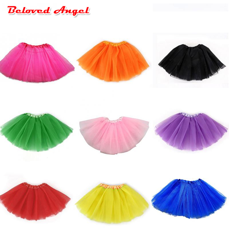 Cute Baby Girls Tutu Skirts Elastic Waist Princess Tulle Skirt Children Clothing