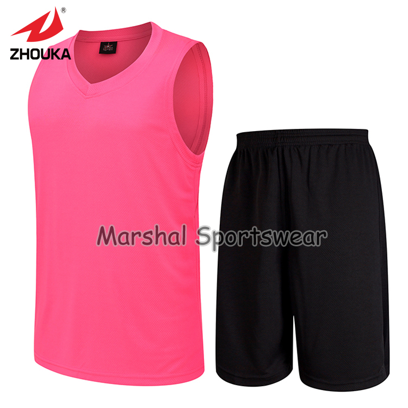 d8f78d6ebe3 GYM shirt training Sleeveless basketball jersey blank pink jersey suit Wear  wholesale Free Shipping Full Sublimation