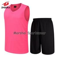 SIŁOWNIA koszula szkolenia Rękawów koszykówka jersey puste różowy jersey garnitur Nosić hurtowych