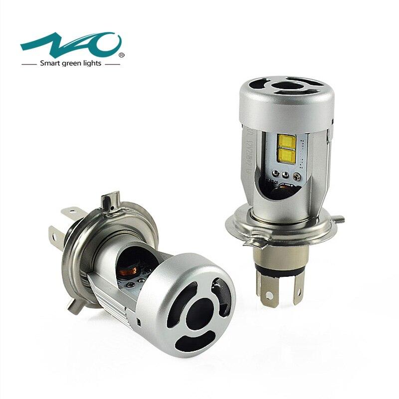 NAO H4 LED phares de voiture lumière LED ampoule H4 feux de croisement 12 V 24 V Flip puce lampe 6000 K blanc 50 W 5600LM Set 3000 K jaune C4