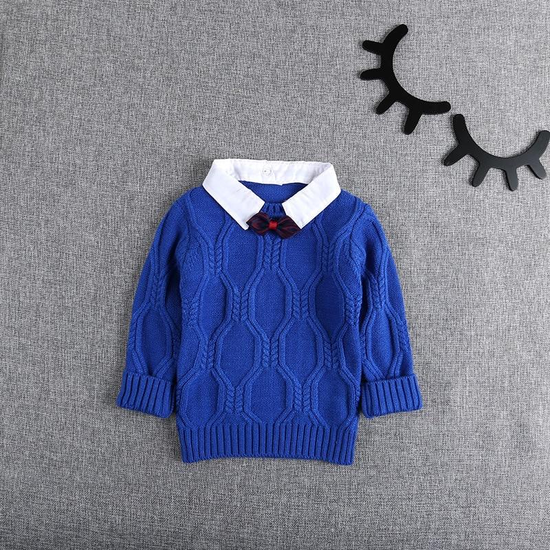Autumn-Winter-Knitting-Baby-Infants-Knitwear-Long-Sleeve-Gentleman-Knit-Boys-Bow-Sweater-Outwear-Pullover-Camisola-Sweater-S5475-2