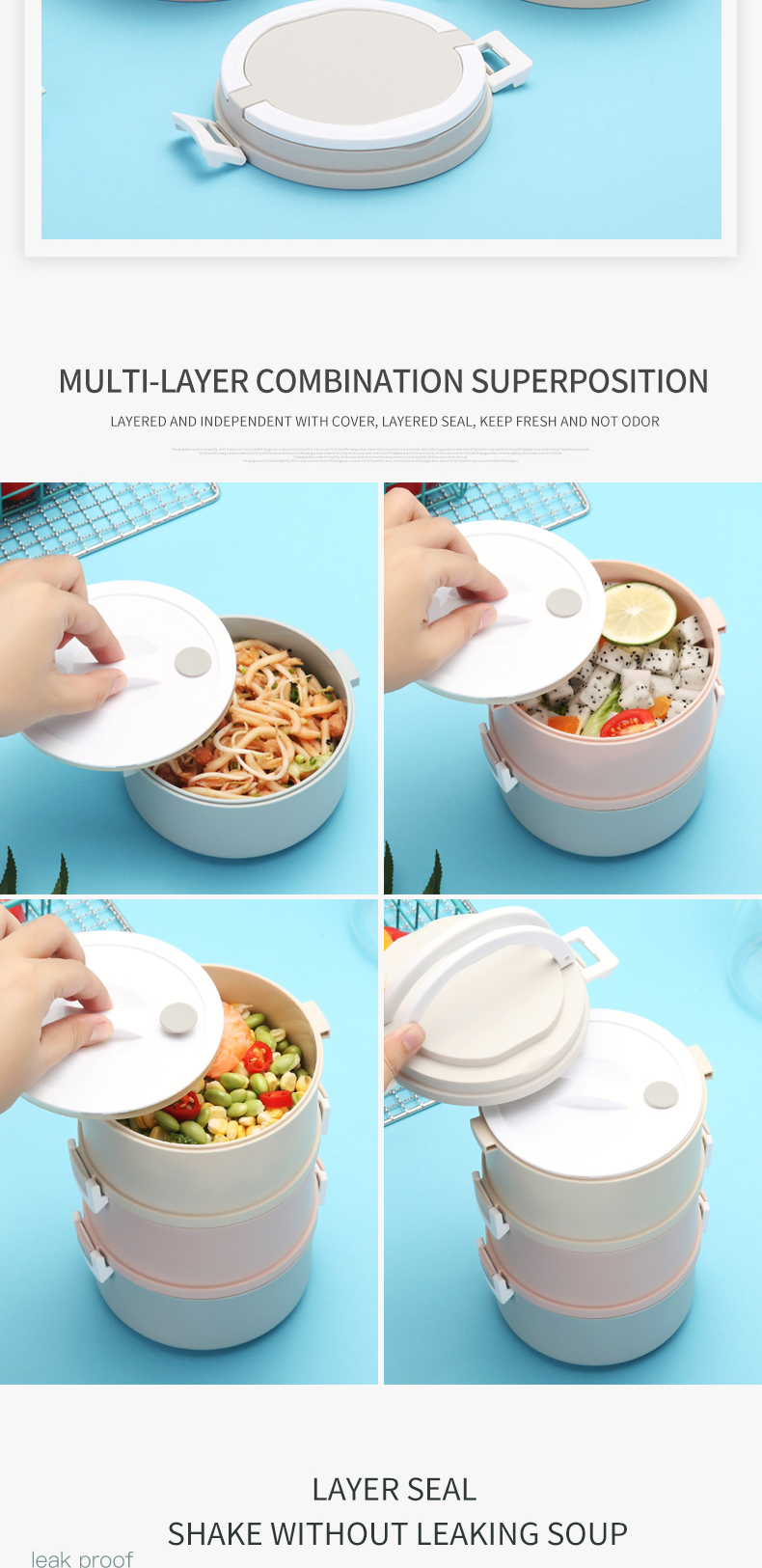 Bowl Lunch Container Leakproof Bowl Holds Soups Noodles Hot Cereals Wheat