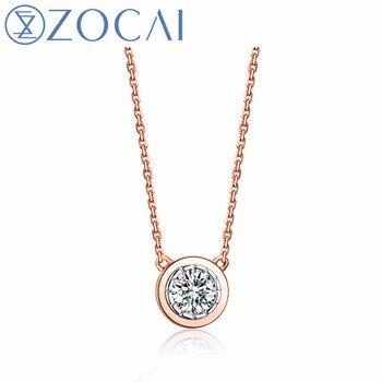 e54ff2cefe8f ZOCAI marca tiempo y amor collar de diamantes Natural 0