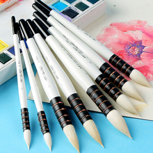 Buy BGLN 1Piece Wool Hair Watercolor Paint Brush Professional Pointed Black&White Handle Painting Brushes Art Supplies 23RSG directly from merchant!