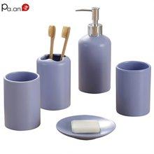 Elegant Bathroom Accessories 5pc Set Solid Ceramic Wedding Gift Bath Room Decorative Toilet Tools Hotel Quality Dropshipping