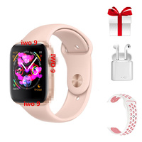 2019 IWO 9+Airpods+belt/set Women Smart Watch 44mm Clock for apple watch iphone 6s 7 8 X plus for samsung Android smartwatch