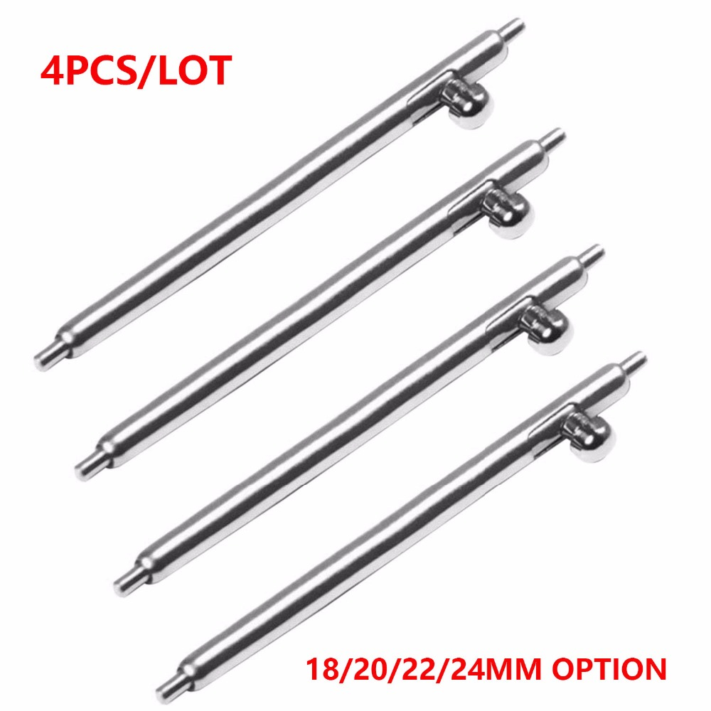 4Pcs/lot Quick Release Spring Bars Pins For Sumsung Gear S2 S3 Galaxy Watch 42/46mm Strap Pins 18mm 20mm 22mm 24mm