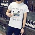 Plus Size M- 5XL mens t shirts fashion 2016 new casual short sleeve O-neck cotton men t shirt brand print T-Shirts