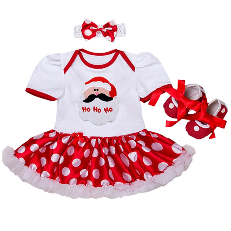 860ea51ea Newborn Baby Girls Christmas Romper Top Tutu Lace Dress Costume Santa Claus  Dress Outfits Xmas Clothes | All Things Baby