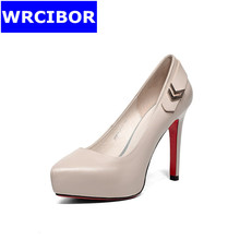 2017 new woman shoes fashion women pumps red bottom High heels ladies sexy pointed toe Thin heels platform shoes for women