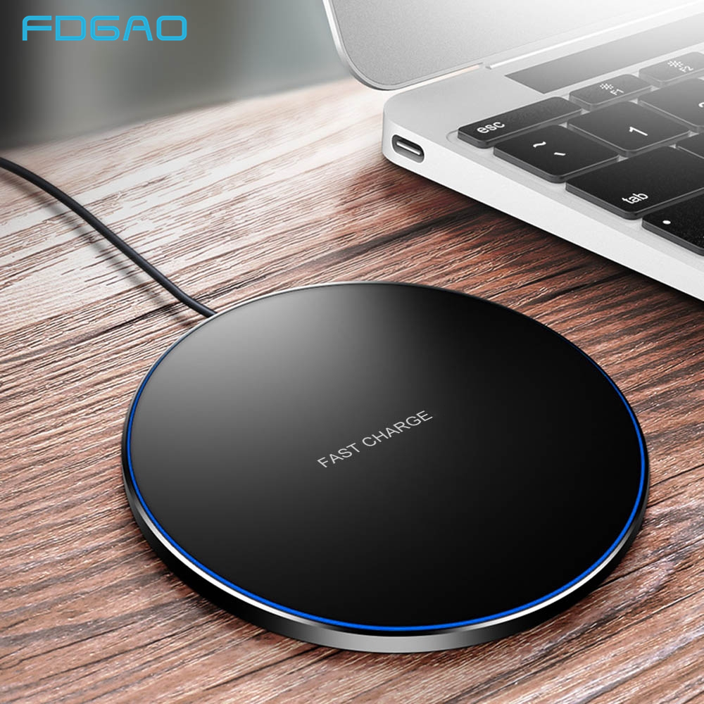 FDGAO Pad Qi cargador inalámbrico 10W de carga rápida para iPhone 8 X XS X XR Samsung S9 S8 S10 Nota 9 8 Xiaomi mi 9 USB de carga rápida 3,0 Bakeey 12 en 1 USB tipo-c HUB a HDMI RJ45 Multi USB 3,0 adaptador de corriente para MacBook-Pro estación de acoplamiento para portátil