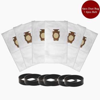 6pcs F Style Sentria Universal Vacuum Bags + 6 Belts for KIRBY Micron Magic Hepa White Cloth Sentria Models Part #20481, 204811 - DISCOUNT ITEM  26% OFF All Category