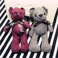 19 cm Bonito Urso Enchido & do Luxuoso do Urso Saco de ornamentos Animais Empalhados Urso de pelúcia Pequeno Pingente Bonito Brinquedos de Pelúcia Como presente de natal