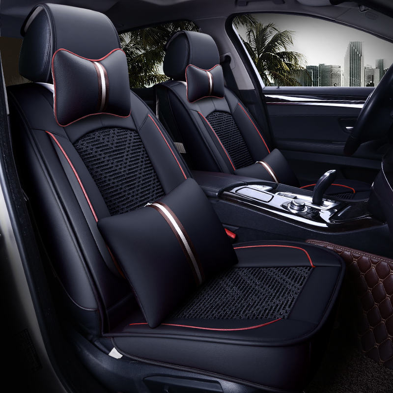 Nouvelle housse de siège de voiture, coussin de siège universel, soie de glace en cuir Senior, coussin de voiture, style de voiture de Sport, style de voiture pour berline SUV