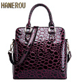 New 2016 Autumn Fashion Women Genuine Leather Shoulder Bag Ladies Large Casual Tote Bag Brand Woman Handbag Bolsa Feminina Preta