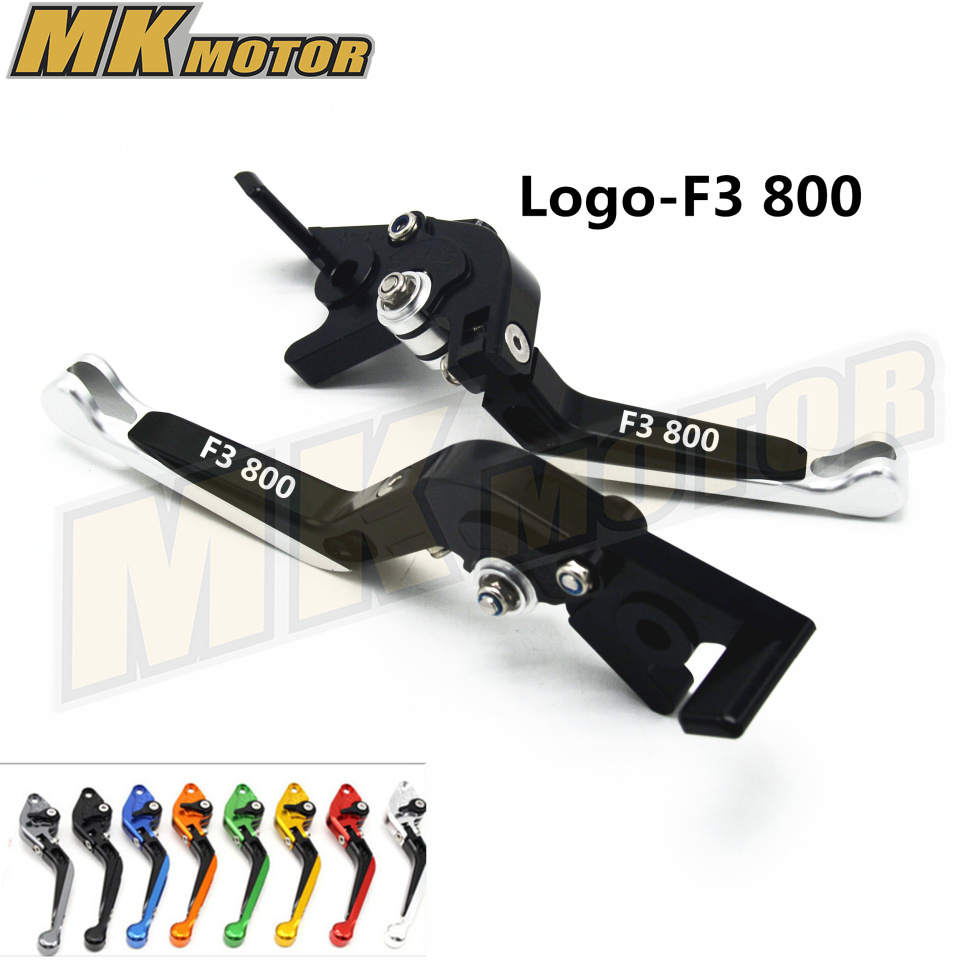New Arrival Adjustable Folding Extendable Brake Clutch Lever For MV AGUSTA F3 800 2014-2016  with  LOGO Free shipping  8 color new brand 8 colors optional brake lever black folding