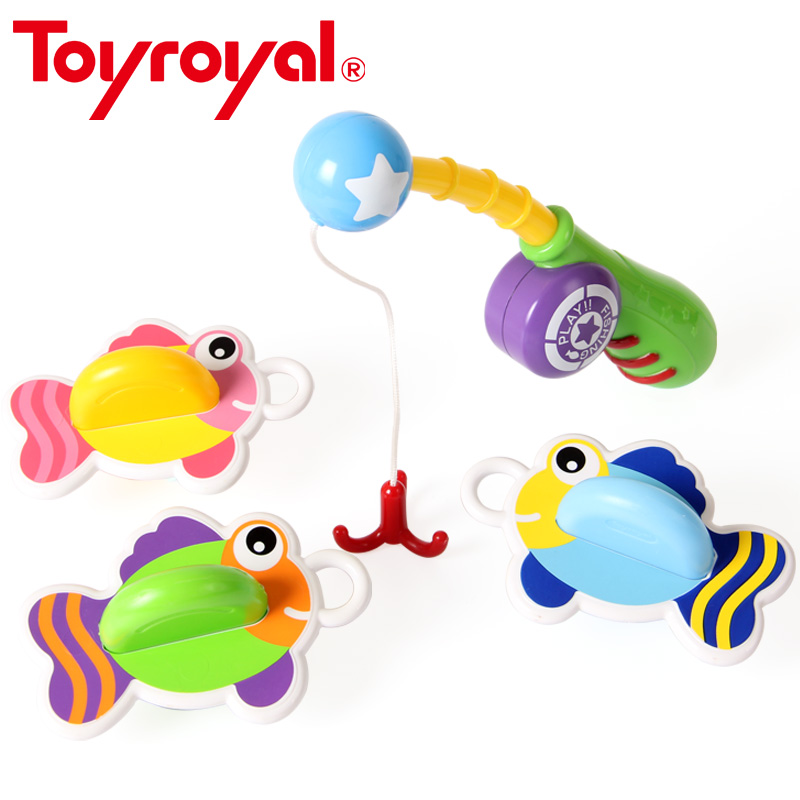 Toyroyal Colorful Go Fishing Game Baby Gift Educational Toys for Children Toddlers Kids Summer Bath Toy Pool Time Play