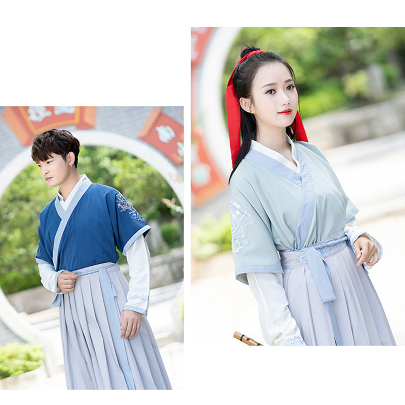 hanfu men chinese folk dance costume for woman hanfu cosplay ancient costumes chinese blouse tops traditional wedding dress