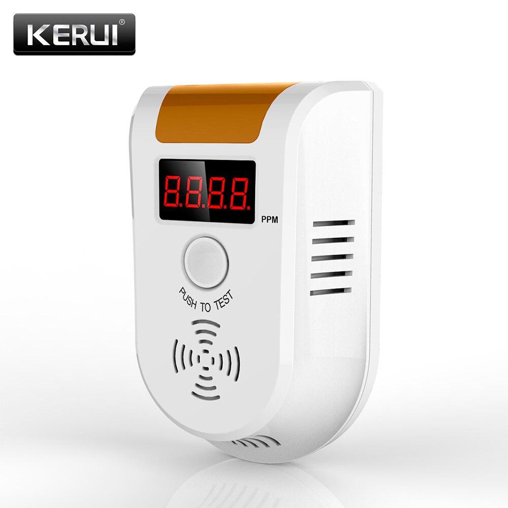 KERUI GD11 Беспроводной Цифровой СВЕТОДИОДНЫЙ Дисплей Детектор Горючих Газов Сигнализации независимый главная безопасность Flash Газ детектора датчика