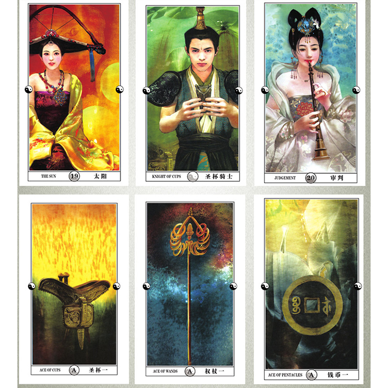 China Tarot Cards Divination Cards Game 12*7cm Cards Chinese/English Version For Family/Friends