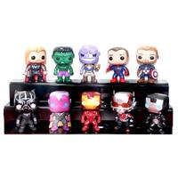 Funko POP 10pcs/set Marvel Avengers3: Infinity War Spiderman Thanos Antman Captain America Action Figure model toys for children