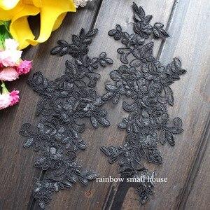 Image 3 - Colors Ganza Emboridered Corded Wedding Large Lace Applique for Bridal Dress Lace Trim Applique