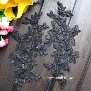 Image 3 - Farben Ganza Emboridered Corded Hochzeit Große Spitze Applique für Braut Kleid Spitze Trim Applique
