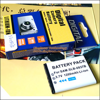 Free Shipping Digital Camera Battery SLB 0837B SLB 0837 B Fit SAMSUNG VLUU NV10 NV8 NV20