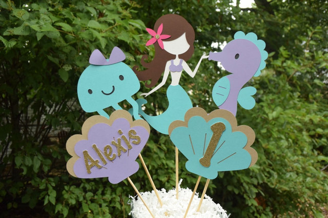 Mermaid Birthday Table Centerpiece Party Decorations Under The Sea Supplies