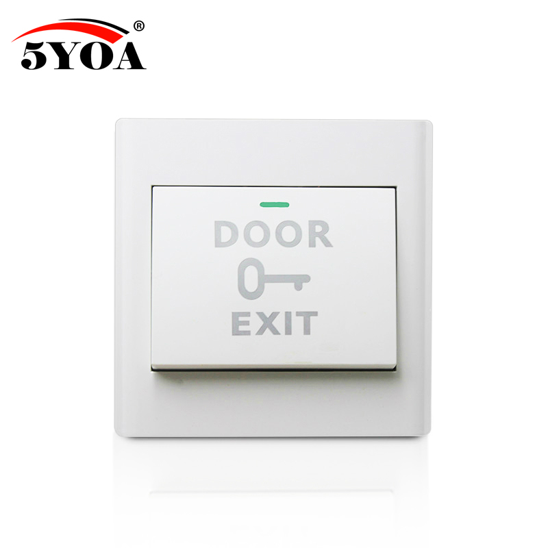 5YOA Door Exit Button Release Push Switch for access control systemc Electronic Door Lock NO COM lock Sensor Switch access push electronic door exit push button door release open switch door access control