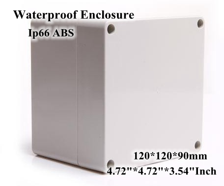 Abs Ip66 Waterproof Enclosure Electronic Plastic Box 120*120*90mm 4.724.723.54Inch Junction Distribution Switch Outdoor Box white abs plastic waterproof dust proof junction box 36mm open hole diy electrical connection outdoor monitor distribution box