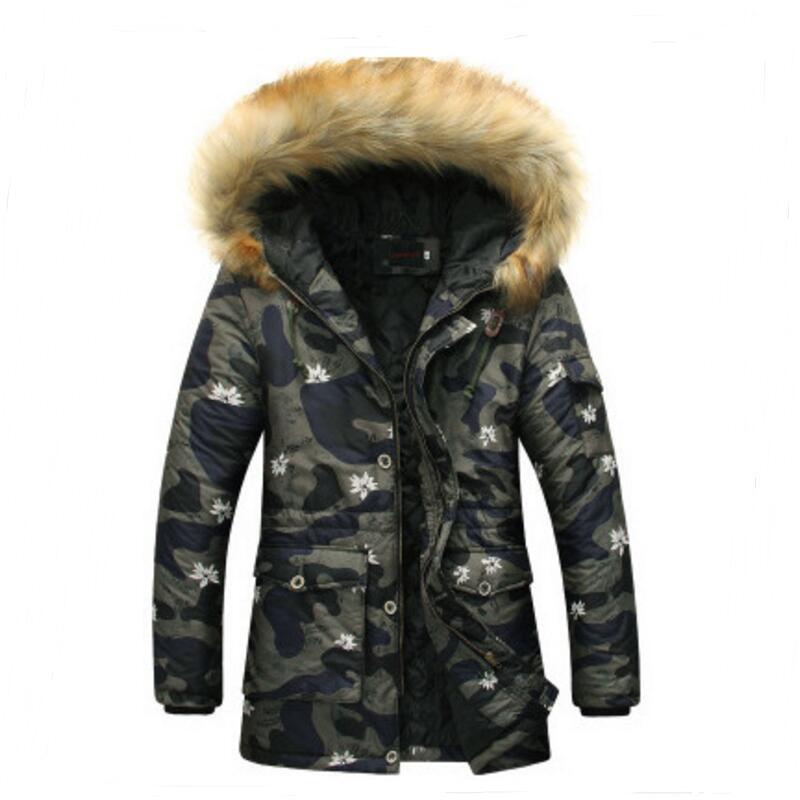 sale retailer 4edb8 f25a5 US $75.0 |Parka hombre 2016men's moda high end di svago camuffamento giacca  invernale mens piumino caldo inverno giubbotti da uomo in Parka hombre ...