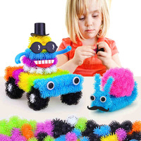 400pcs Set Kid 3D Puzzle Toys DIY Puff Ball Squeezed Variety Shape Creative Handmade Toy Puzzles