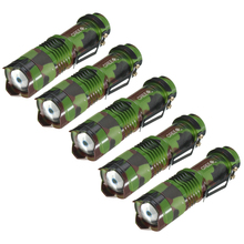 5Pcs Mini CREE Q5 2000 Lumen Three Mode Zoomable Flashlight Torch Light Adjustable Light Lamp
