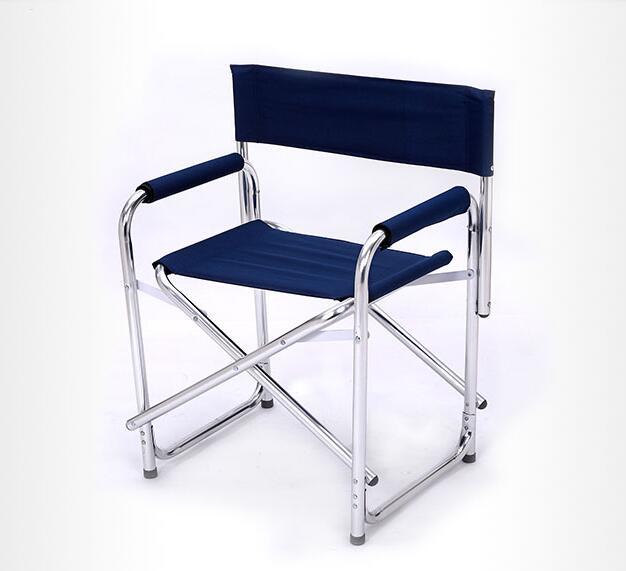 La plus nouvelle Double couche coton-rembourré chaise longue en alliage d'aluminium chaises de bureau Portable tabouret pliant chaises de plage en plein air