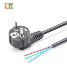 ЕС 1,8 m европейский стандартный кабель питания голый хвостовый конец 0.75mm2/1mm2/1.5mm2 толстый кабель для компьютера/принтера/Рисоварки