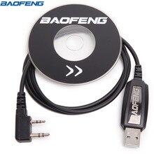 Оригинал Baofeng USB Кабель для программирования драйверами для CB радио Baofeng UV-5R UV-82 BF-888S GT-3 Walkie Talkie радиолюбителей УФ 5R