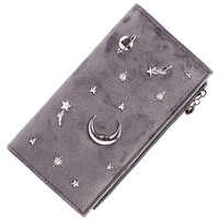 Nubuck Leather Women Wallets Female Fashion Zipper Wallet Luxury Ladies Long Coin Purse Card Holders Retro