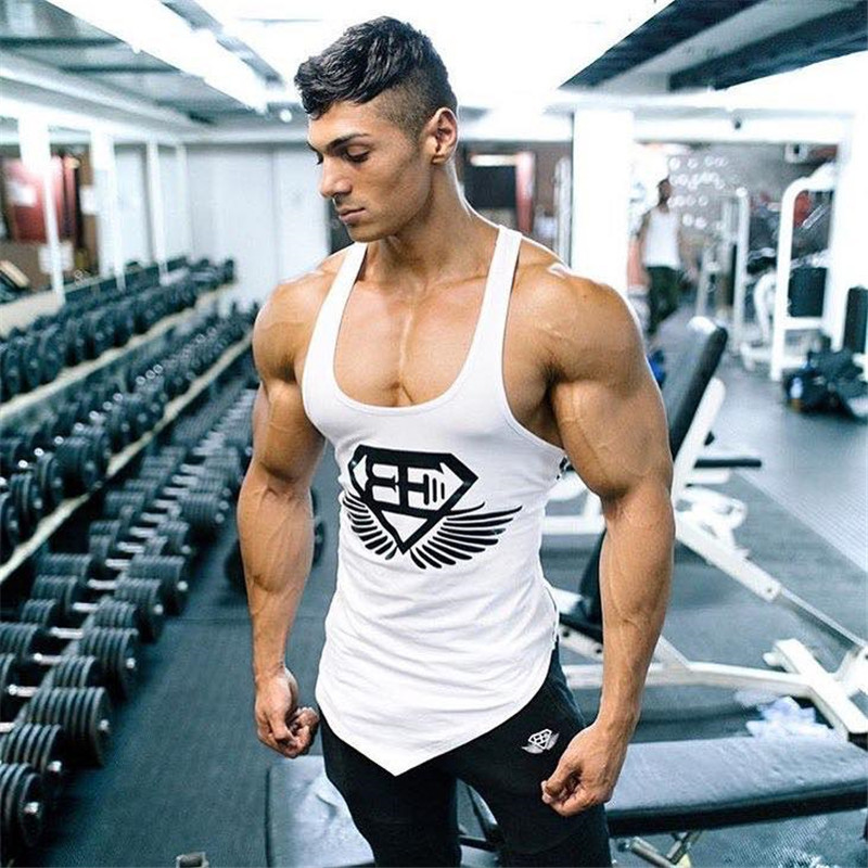 Photno Mens Training Quick-Dry Sports Tank Top Shirt Gym Fitness Bodybuilding Running