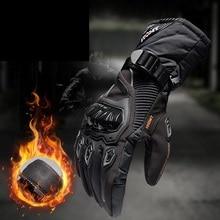 Guantes impermeables cálidos para invierno, Guantes para motocicleta, ciclismo, bicicleta de carreras, M XXL