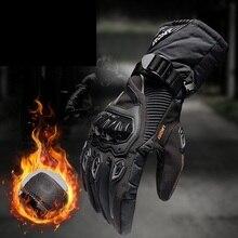 חורף חם עמיד למים כפפת אופנוע כפפות Guantes moto invierno עור גנץ M XXL מרוצי אופניים